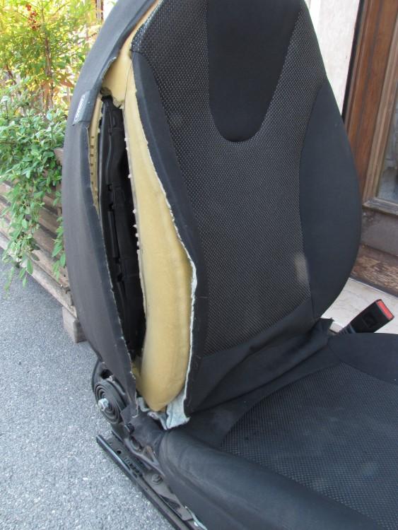 fodera danneggiata dallo scoppio dell'airbag